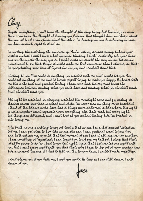 Jace S Letter To Clary