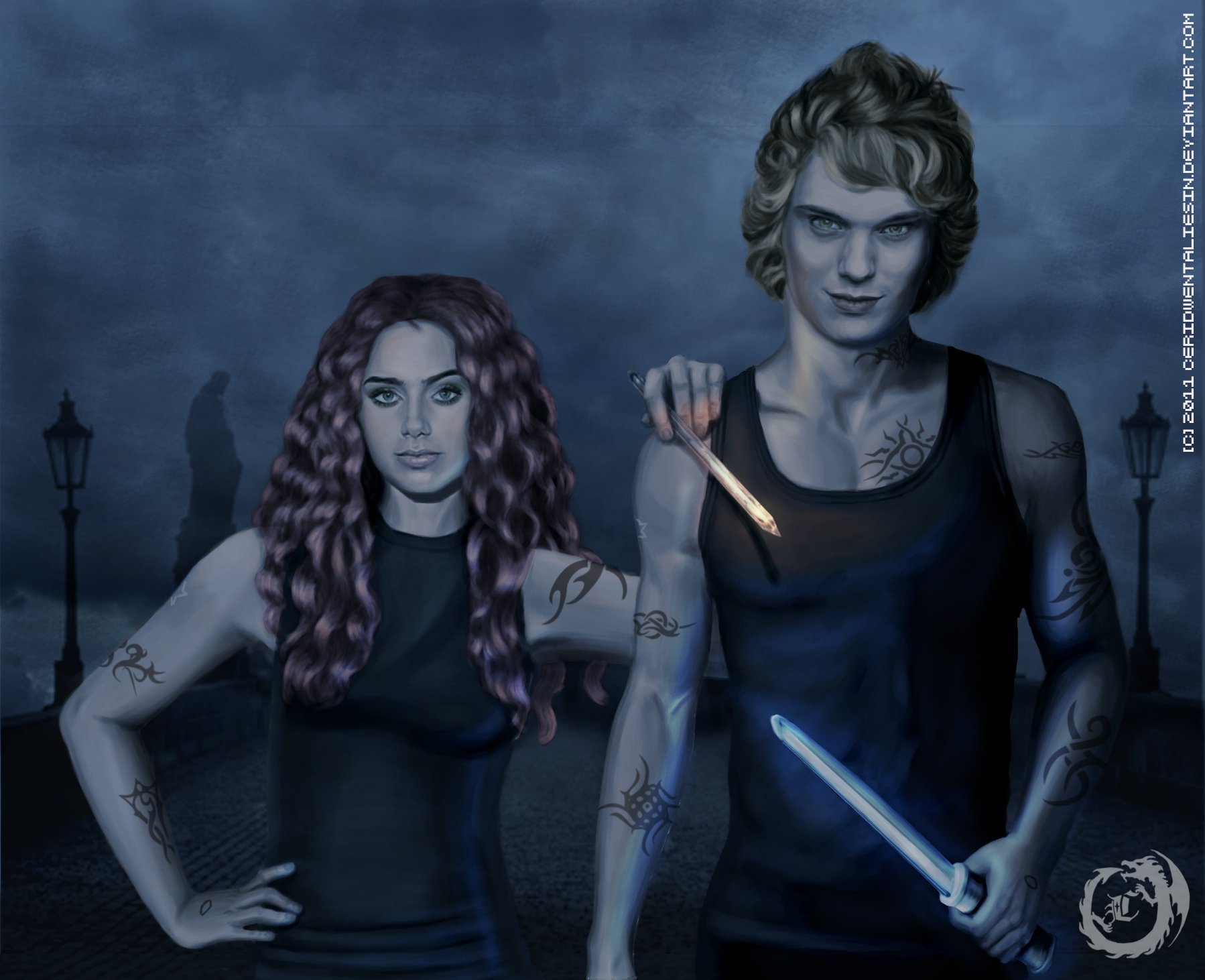 as Clary and Jace drawing  Jace And Clary Movie
