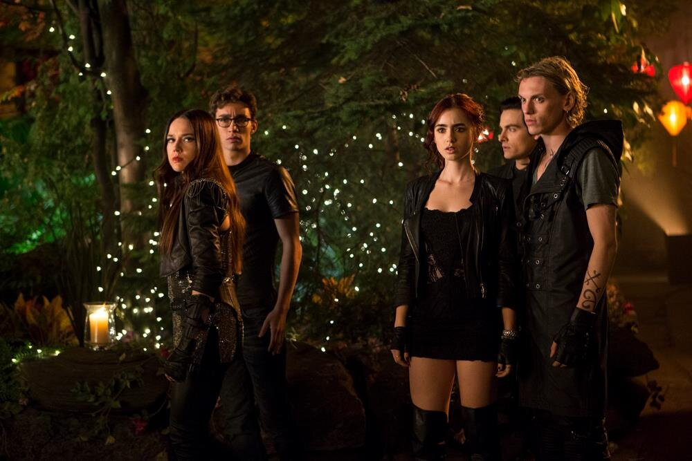 Jemima West, Robert Sheehan, Lily Collins, Kevin Zegers and Jamie Campbell Bower