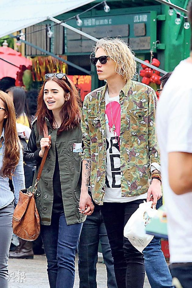 Source  Jace And Clary Lily Collins And Jamie Bower Kiss