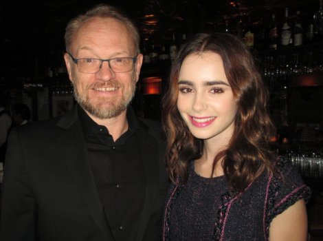 Jared Harris and Lily Collins