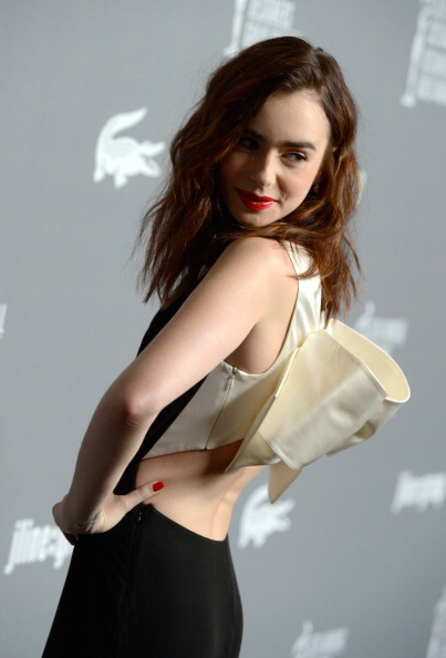Lily Collins at the 2013 CDGA