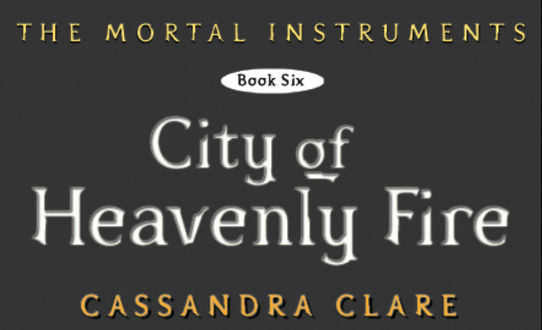 City of Heavenly Fire cut