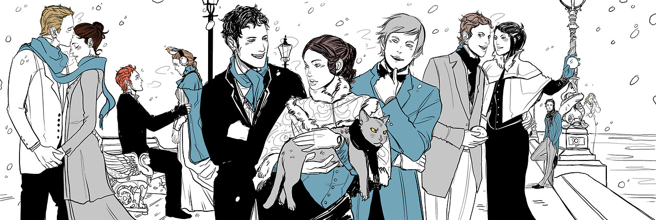Cassandra Clare shares 'INFERNAL DEVICES' characters in the Winter artwork  – TMI Source