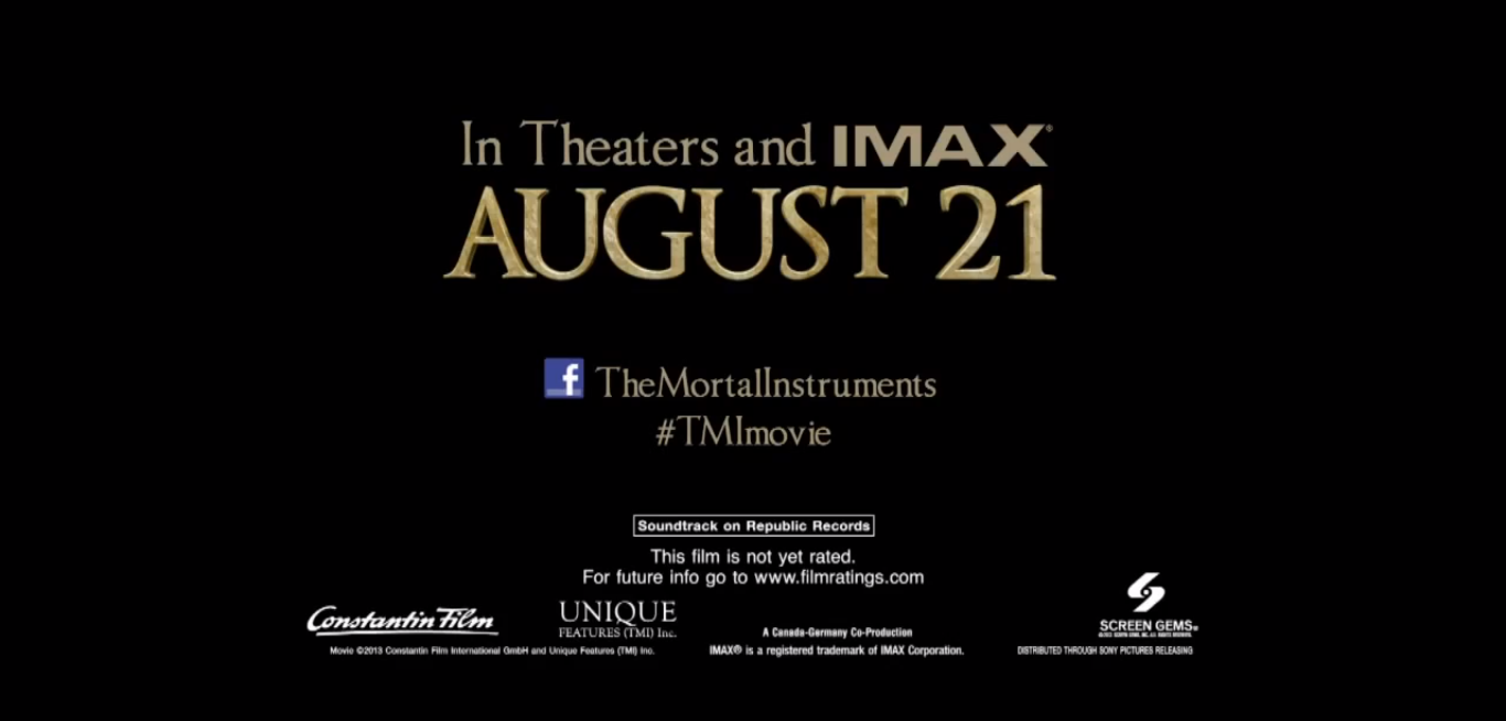 City of ashes movie release date in Hamilton