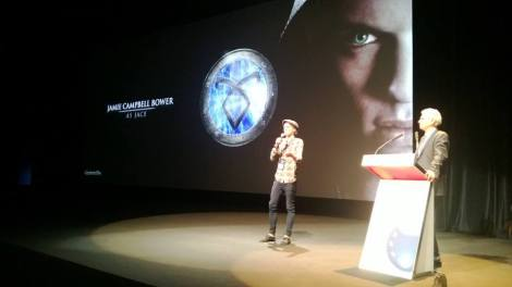 Jamie Campbell Bower presenting at CineEurope (Photo Credit: Martin Moszkowicz)