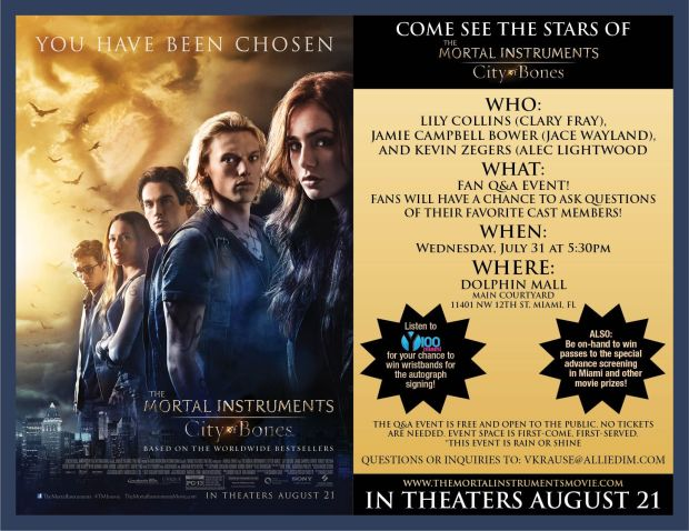 Mortal Instruments Mall Tour Flyer