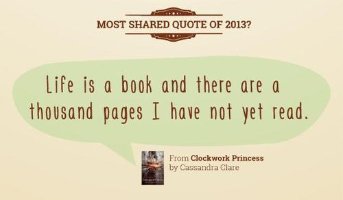 clockwork princess quote was the most shared quote of on