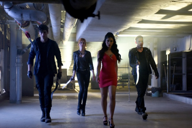 "SHADOWHUNTERS - ABC Family's ""Shadowhunters"" premieres Tuesday, January 12, 2016 on Freeform. ABC Family is becoming Freeform in January 2016. (ABC Family/John Medland) MATTHEW DADDARIO, KATHERINE MCNAMARA, EMERAUDE TOUBIA, DOMINIC SHERWOOD"