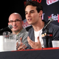 "SHADOWHUNTERS - The cast and creators of ABC Family's ""Shadowhunters"" appear at New York Comic-Con on October 10, 2015 to discuss the new series. ""Shadowhunters"" premieres Tuesday, Jan. 12 at 9 p.m. ET on ABC Family. (ABC Family/Lou Rocco) ED DECTER, ALBERTO ROSENDE"