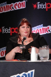 """SHADOWHUNTERS - The cast and creators of ABC Family's """"Shadowhunters"""" appear at New York Comic-Con on October 10, 2015 to discuss the new series. """"Shadowhunters"""" premieres Tuesday, Jan. 12 at 9 p.m. ET on ABC Family. (ABC Family/Lou Rocco) CASSANDRA CLARE"""