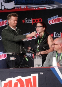 """SHADOWHUNTERS - The cast and creators of ABC Family's """"Shadowhunters"""" appear at New York Comic-Con on October 10, 2015 to discuss the new series. """"Shadowhunters"""" premieres Tuesday, Jan. 12 at 9 p.m. ET on ABC Family. (ABC Family/Lou Rocco) MCG, FAN, ED DECTER"""