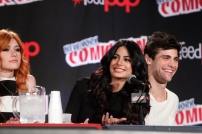 """SHADOWHUNTERS - The cast and creators of ABC Family's """"Shadowhunters"""" appear at New York Comic-Con on October 10, 2015 to discuss the new series. """"Shadowhunters"""" premieres Tuesday, Jan. 12 at 9 p.m. ET on ABC Family. (ABC Family/Lou Rocco) KATHERINE MCNAMARA, EMERAUDE TOUBIA, MATTHEW DADDARIO"""