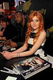 """SHADOWHUNTERS - The cast and creators of ABC Family's """"Shadowhunters"""" appear at New York Comic-Con on October 10, 2015 to discuss the new series. """"Shadowhunters"""" premieres Tuesday, Jan. 12 at 9 p.m. ET on ABC Family. (ABC Family/Lou Rocco) KATHERINE MCNAMARA"""
