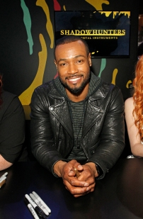 "SHADOWHUNTERS - The cast and creators of ABC Family's ""Shadowhunters"" appear at New York Comic-Con on October 10, 2015 to discuss the new series. ""Shadowhunters"" premieres Tuesday, Jan. 12 at 9 p.m. ET on ABC Family. (ABC Family/Lou Rocco) ISAIAH MUSTAFA"