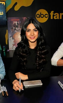 "SHADOWHUNTERS - The cast and creators of ABC Family's ""Shadowhunters"" appear at New York Comic-Con on October 10, 2015 to discuss the new series. ""Shadowhunters"" premieres Tuesday, Jan. 12 at 9 p.m. ET on ABC Family. (ABC Family/Lou Rocco) EMERAUDE TOUBIA"