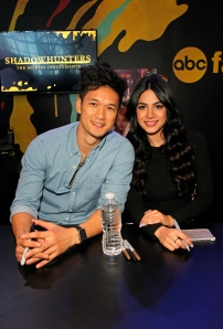 "SHADOWHUNTERS - The cast and creators of ABC Family's ""Shadowhunters"" appear at New York Comic-Con on October 10, 2015 to discuss the new series. ""Shadowhunters"" premieres Tuesday, Jan. 12 at 9 p.m. ET on ABC Family. (ABC Family/Lou Rocco) HARRY SHUM JR., EMERAUDE TOUBIA"
