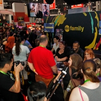 "SHADOWHUNTERS - The cast and creators of ABC Family's ""Shadowhunters"" appear at New York Comic-Con on October 10, 2015 to discuss the new series. ""Shadowhunters"" premieres Tuesday, Jan. 12 at 9 p.m. ET on ABC Family. (ABC Family/Lou Rocco) SHADOWHUNTERS AUTOGRAPH SIGNING"