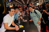 """SHADOWHUNTERS - The cast and creators of ABC Family's """"Shadowhunters"""" appear at New York Comic-Con on October 10, 2015 to discuss the new series. """"Shadowhunters"""" premieres Tuesday, Jan. 12 at 9 p.m. ET on ABC Family. (ABC Family/Lou Rocco) ALBERTO ROSENDE, HARRY SHUM JR., DOMINICK SHERWOOD, FANS"""