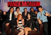 """SHADOWHUNTERS - The cast and creators of ABC Family's """"Shadowhunters"""" appear at New York Comic-Con on October 10, 2015 to discuss the new series. """"Shadowhunters"""" premieres Tuesday, Jan. 12 at 9 p.m. ET on ABC Family. (ABC Family/Lou Rocco) ALBERTO ROSENDE, MATTHEW DADDARIO, KATHERINE MCNAMARA, DOMINIC SHERWOOD, EMERAUDE TOUBIA, ISAIAH MUSTAFA, HARRY SHUM JR."""