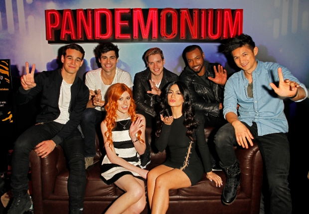 "SHADOWHUNTERS - The cast and creators of ABC Family's ""Shadowhunters"" appear at New York Comic-Con on October 10, 2015 to discuss the new series. ""Shadowhunters"" premieres Tuesday, Jan. 12 at 9 p.m. ET on ABC Family. (ABC Family/Lou Rocco) ALBERTO ROSENDE, MATTHEW DADDARIO, KATHERINE MCNAMARA, DOMINIC SHERWOOD, EMERAUDE TOUBIA, ISAIAH MUSTAFA, HARRY SHUM JR."