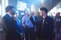"SHADOWHUNTERS - ""The Mortal Cup"" - One young woman realizes how dark the city can really be when she learns the truth about her past in the series premiere of ""Shadowhunters"" on Tuesday, January 12th at 9:00 - 10:00 PM ET/PT. ABC Family is becoming Freeform in January 2016. Based on the bestselling young adult fantasy book series The Mortal Instruments by Cassandra Clare, ""Shadowhunters"" follows Clary Fray, who finds out on her birthday that she is not who she thinks she is but rather comes from a long line of Shadowhunters - human-angel hybrids who hunt down demons. Now thrown into the world of demon hunting after her mother is kidnapped, Clary must rely on the mysterious Jace and his fellow Shadowhunters Isabelle and Alec to navigate this new dark world. With her best friend Simon in tow, Clary must now live among faeries, warlocks, vampires and werewolves to find answers that could help her find her mother. Nothing is as it seems, including her close family friend Luke who knows more than he is letting on, as well as the enigmatic warlock Magnus Bane who could hold the key to unlocking Clary's past. (ABC Family/John Medland) CURTIS MORGAN, MCG (DIRECTOR), HARRY SHUM JR."