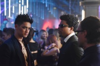 """SHADOWHUNTERS - """"The Mortal Cup"""" - One young woman realizes how dark the city can really be when she learns the truth about her past in the series premiere of """"Shadowhunters"""" on Tuesday, January 12th at 9:00 - 10:00 PM ET/PT. ABC Family is becoming Freeform in January 2016. Based on the bestselling young adult fantasy book series The Mortal Instruments by Cassandra Clare, """"Shadowhunters"""" follows Clary Fray, who finds out on her birthday that she is not who she thinks she is but rather comes from a long line of Shadowhunters - human-angel hybrids who hunt down demons. Now thrown into the world of demon hunting after her mother is kidnapped, Clary must rely on the mysterious Jace and his fellow Shadowhunters Isabelle and Alec to navigate this new dark world. With her best friend Simon in tow, Clary must now live among faeries, warlocks, vampires and werewolves to find answers that could help her find her mother. Nothing is as it seems, including her close family friend Luke who knows more than he is letting on, as well as the enigmatic warlock Magnus Bane who could hold the key to unlocking Clary's past. (ABC Family/John Medland) HARRY SHUM JR., CURTIS MORGAN"""