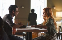 """SHADOWHUNTERS - """"The Mortal Cup"""" - One young woman realizes how dark the city can really be when she learns the truth about her past in the series premiere of """"Shadowhunters"""" on Tuesday, January 12th at 9:00 - 10:00 PM ET/PT. ABC Family is becoming Freeform in January 2016. Based on the bestselling young adult fantasy book series The Mortal Instruments by Cassandra Clare, """"Shadowhunters"""" follows Clary Fray, who finds out on her birthday that she is not who she thinks she is but rather comes from a long line of Shadowhunters - human-angel hybrids who hunt down demons. Now thrown into the world of demon hunting after her mother is kidnapped, Clary must rely on the mysterious Jace and his fellow Shadowhunters Isabelle and Alec to navigate this new dark world. With her best friend Simon in tow, Clary must now live among faeries, warlocks, vampires and werewolves to find answers that could help her find her mother. Nothing is as it seems, including her close family friend Luke who knows more than he is letting on, as well as the enigmatic warlock Magnus Bane who could hold the key to unlocking Clary's past. (ABC Family/John Medland) ALBERTO ROSENDE, KATHERINE MCNAMARA"""