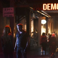 "SHADOWHUNTERS - ""The Mortal Cup"" - One young woman realizes how dark the city can really be when she learns the truth about her past in the series premiere of ""Shadowhunters"" on Tuesday, January 12th at 9:00 - 10:00 PM ET/PT. ABC Family is becoming Freeform in January 2016. Based on the bestselling young adult fantasy book series The Mortal Instruments by Cassandra Clare, ""Shadowhunters"" follows Clary Fray, who finds out on her birthday that she is not who she thinks she is but rather comes from a long line of Shadowhunters - human-angel hybrids who hunt down demons. Now thrown into the world of demon hunting after her mother is kidnapped, Clary must rely on the mysterious Jace and his fellow Shadowhunters Isabelle and Alec to navigate this new dark world. With her best friend Simon in tow, Clary must now live among faeries, warlocks, vampires and werewolves to find answers that could help her find her mother. Nothing is as it seems, including her close family friend Luke who knows more than he is letting on, as well as the enigmatic warlock Magnus Bane who could hold the key to unlocking Clary's past. (ABC Family/John Medland) DOMINIC SHERWOOD"