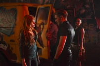 """SHADOWHUNTERS - """"The Mortal Cup"""" - One young woman realizes how dark the city can really be when she learns the truth about her past in the series premiere of """"Shadowhunters"""" on Tuesday, January 12th at 9:00 - 10:00 PM ET/PT. ABC Family is becoming Freeform in January 2016. Based on the bestselling young adult fantasy book series The Mortal Instruments by Cassandra Clare, """"Shadowhunters"""" follows Clary Fray, who finds out on her birthday that she is not who she thinks she is but rather comes from a long line of Shadowhunters - human-angel hybrids who hunt down demons. Now thrown into the world of demon hunting after her mother is kidnapped, Clary must rely on the mysterious Jace and his fellow Shadowhunters Isabelle and Alec to navigate this new dark world. With her best friend Simon in tow, Clary must now live among faeries, warlocks, vampires and werewolves to find answers that could help her find her mother. Nothing is as it seems, including her close family friend Luke who knows more than he is letting on, as well as the enigmatic warlock Magnus Bane who could hold the key to unlocking Clary's past. (ABC Family/John Medland) KATHERINE MCNAMARA, DOMINIC SHERWOOD,"""