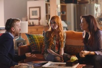 """SHADOWHUNTERS - """"The Mortal Cup"""" - One young woman realizes how dark the city can really be when she learns the truth about her past in the series premiere of """"Shadowhunters"""" on Tuesday, January 12th at 9:00 - 10:00 PM ET/PT. ABC Family is becoming Freeform in January 2016. Based on the bestselling young adult fantasy book series The Mortal Instruments by Cassandra Clare, """"Shadowhunters"""" follows Clary Fray, who finds out on her birthday that she is not who she thinks she is but rather comes from a long line of Shadowhunters - human-angel hybrids who hunt down demons. Now thrown into the world of demon hunting after her mother is kidnapped, Clary must rely on the mysterious Jace and his fellow Shadowhunters Isabelle and Alec to navigate this new dark world. With her best friend Simon in tow, Clary must now live among faeries, warlocks, vampires and werewolves to find answers that could help her find her mother. Nothing is as it seems, including her close family friend Luke who knows more than he is letting on, as well as the enigmatic warlock Magnus Bane who could hold the key to unlocking Clary's past. (ABC Family/John Medland) MCG (DIRECTOR), KATHERINE MCNAMARA, MAXIM ROY"""