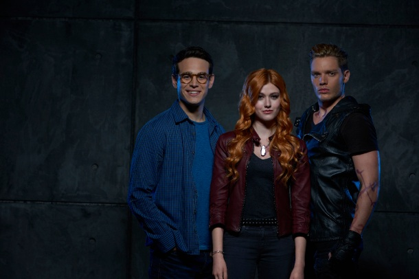 "SHADOWHUNTERS - ABC Family's ""Shadowhunters"" stars Alberto Rosende as Simon Lewis, Katherine McNamara as Clary Fray and Dominic Sherwood as Jace Wayland. (ABC Family/Bob D'Amico)"