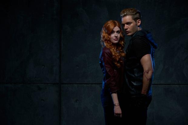 """SHADOWHUNTERS - ABC Family's """"Shadowhunters"""" stars Katherine McNamara as Clary Fray and Dominic Sherwood as Jace Wayland. (ABC Family/Bob D'Amico)"""