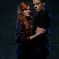 "SHADOWHUNTERS - ABC Family's ""Shadowhunters"" stars Katherine McNamara as Clary Fray and Dominic Sherwood as Jace Wayland. (ABC Family/Bob D'Amico)"