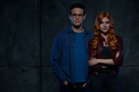 "SHADOWHUNTERS - ABC Family's ""Shadowhunters"" stars Alberto Rosende as Simon Lewis and Katherine McNamara as Clary Fray. (ABC Family/Bob D'Amico)"