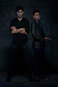 "SHADOWHUNTERS - ABC Family's ""Shadowhunters"" stars Matthew Daddario as Alec Lightwood and Harry Shum Jr. as Magnus Bane. (ABC Family/Bob D'Amico)"