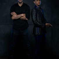 "SHADOWHUNTERS - ABC Family's ""Shadowhunters"" stars Matthew Daddario as Alec Lightwood and Harry Shum Jr. as Magnus Bane. (ABC Family/Bob D'Amico)"