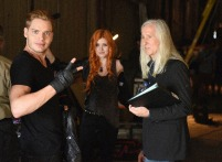 """SHADOWHUNTERS - """"The Descent Into Hell is Easy"""" - Clary's memories may be the key to finding her mother and The Mortal Cup in """"The Descent Into Hell is Easy,"""" an all-new episode of """"Shadowhunters,"""" airing Tuesday, January 19th at 9:00 – 10:00 p.m., EST/PST on Freeform, the new name for ABC Family. ABC Family is becoming Freeform on January 12, 2016. (ABC Family/John Medland) DOMINIC SHERWOOD, KATHERINE MCNAMARA, MICK GARRIS (DIRECTOR)"""
