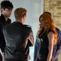 "SHADOWHUNTERS - ""The Descent Into Hell is Easy"" - Clary's memories may be the key to finding her mother and The Mortal Cup in ""The Descent Into Hell is Easy,"" an all-new episode of ""Shadowhunters,"" airing Tuesday, January 19th at 9:00 – 10:00 p.m., EST/PST on Freeform, the new name for ABC Family. ABC Family is becoming Freeform on January 12, 2016. (ABC Family/John Medland) MATTHEW DADDARIO, DOMINIC SHERWOOD, KATHERINE MCNAMARA"