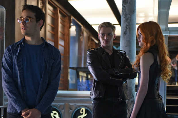"SHADOWHUNTERS - ""The Descent Into Hell is Easy"" - Clary's memories may be the key to finding her mother and The Mortal Cup in ""The Descent Into Hell is Easy,"" an all-new episode of ""Shadowhunters,"" airing Tuesday, January 19th at 9:00 – 10:00 p.m., EST/PST on Freeform, the new name for ABC Family. ABC Family is becoming Freeform on January 12, 2016. (ABC Family/John Medland) ALBERTO ROSENDE, DOMINIC SHERWOOD, KATHERINE MCNAMARA"