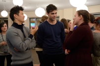 SHADOWHUNTERS - 12/5/15 - Eleven lucky SHADOWHUNTERS fans and their guests were flown from around the country to meet author Cassandra Clare and the cast of the ABC Family series during a Pop-Up Santa surprise in New York City. ABC FAMILY is becoming FREEFORM in January 2016. (ABC FAMILY/ Lorenzo Bevilaqua) HARRY SHUM, JR., MATTHEW DADDARIO, FANS