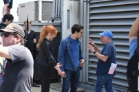 "SHADOWHUNTERS - ""Dead Man's Party"" - Clary, Jace, Alec and Isabelle must hatch a rescue plan that takes them into the heart of a vampire lair in ""Dead Man's Party,"" an all-new episode of ""Shadowhunters,"" airing Tuesday, January 26th at 9:00 – 10:00 p.m., EST/PST on Freeform, the new name for ABC Family. ABC Family is becoming Freeform on January 12, 2016. (ABC Family/John Medland) MATTHEW DADDARIO, DOMINIC SHERWOOD, KATHERINE MCNAMARA, ALBERTO ROSENDE, ANDY WOLK (DIRECTOR)"