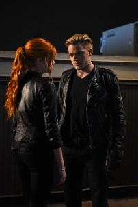 "SHADOWHUNTERS - ""Dead Man's Party"" - Clary, Jace, Alec and Isabelle must hatch a rescue plan that takes them into the heart of a vampire lair in ""Dead Man's Party,"" an all-new episode of ""Shadowhunters,"" airing Tuesday, January 26th at 9:00 – 10:00 p.m., EST/PST on Freeform, the new name for ABC Family. ABC Family is becoming Freeform on January 12, 2016. (ABC Family/John Medland) KATHERINE MCNAMARA, DOMINIC SHERWOOD"
