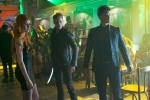 """SHADOWHUNTERS - """"Raising Hell"""" - The Shadowhunters will have to put their trust in a Downworlder to access Clary's memories  in """"Raising Hell,"""" an all-new episode of """"Shadowhunters,"""" airing  Tuesday, February 2nd at 9:00 – 10:00 p.m., EST/PST on Freeform, the new name for ABC Family. (Freeform/Sven Frenzel) KATHERINE MCNAMARA, DOMINIC SHERWOOD, HARRY SHUM JR."""