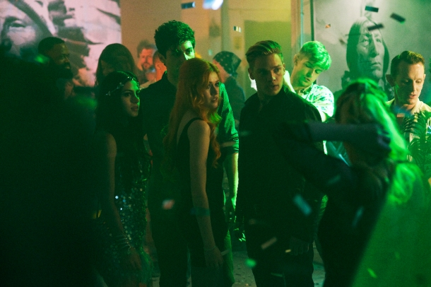 "SHADOWHUNTERS - ""Raising Hell"" - The Shadowhunters will have to put their trust in a Downworlder to access Clary's memories in ""Raising Hell,"" an all-new episode of ""Shadowhunters,"" airing Tuesday, February 2nd at 9:00 – 10:00 p.m., EST/PST on Freeform, the new name for ABC Family. (Freeform/Sven Frenzel) EMERAUDE TOUBIA, MATTHEW DADDARIO, KATHERINE MCNAMARA, DOMINIC SHERWOOD"