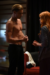 """SHADOWHUNTERS - """"Raising Hell"""" - The Shadowhunters will have to put their trust in a Downworlder to access Clary's memories in """"Raising Hell,"""" an all-new episode of """"Shadowhunters,"""" airing Tuesday, February 2nd at 9:00 – 10:00 p.m., EST/PST on Freeform, the new name for ABC Family. (Freeform/John Medland) DOMINIC SHERWOOD, KATHERINE MCNAMARA"""