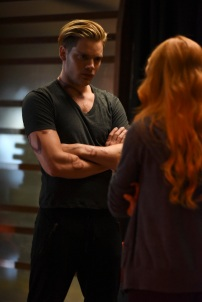 "SHADOWHUNTERS - ""Raising Hell"" - The Shadowhunters will have to put their trust in a Downworlder to access Clary's memories in ""Raising Hell,"" an all-new episode of ""Shadowhunters,"" airing Tuesday, February 2nd at 9:00 – 10:00 p.m., EST/PST on Freeform, the new name for ABC Family. (Freeform/John Medland) DOMINIC SHERWOOD"