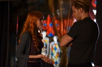 """SHADOWHUNTERS - """"Raising Hell"""" - The Shadowhunters will have to put their trust in a Downworlder to access Clary's memories in """"Raising Hell,"""" an all-new episode of """"Shadowhunters,"""" airing Tuesday, February 2nd at 9:00 – 10:00 p.m., EST/PST on Freeform, the new name for ABC Family. (Freeform/John Medland) KATHERINE MCNAMARA, DOMINIC SHERWOOD"""