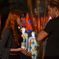 "SHADOWHUNTERS - ""Raising Hell"" - The Shadowhunters will have to put their trust in a Downworlder to access Clary's memories in ""Raising Hell,"" an all-new episode of ""Shadowhunters,"" airing Tuesday, February 2nd at 9:00 – 10:00 p.m., EST/PST on Freeform, the new name for ABC Family. (Freeform/John Medland) KATHERINE MCNAMARA, DOMINIC SHERWOOD"