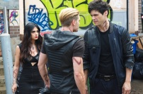 "SHADOWHUNTERS - ""Moo Shu To Go"" - Alec finds himself torn between duty and loyalty to Jace in ""Moo Shu to Go,"" an all-new episode of ""Shadowhunters,"" airing Tuesday, February 9th at 9:00 – 10:00 p.m., EST/PST on Freeform, the new name for ABC Family. (Freeform/Sven Frenzel) EMERAUDE TOUBIA, DOMINIC SHERWOOD, MATTHEW DADDARIO"
